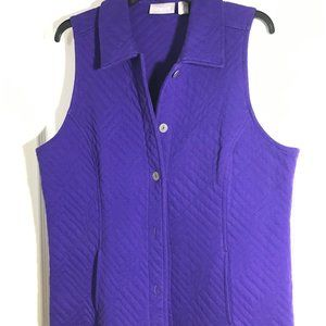 Chico's quilted purple vest